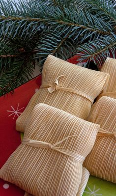 Tamales on Christmas Eve-at least five generations of our family have enjoyed tamales on Christmas Eve.