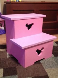 Minnie Mouse step stool | Do It Yourself Home Projects from Ana White