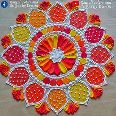Easy Rangoli Designs Videos, Easy Rangoli Designs Diwali, Rangoli Simple, Rangoli Designs Latest, Simple Rangoli Designs Images, Rangoli Designs Flower, Free Hand Rangoli Design, Rangoli Ideas, Colorful Rangoli Designs