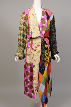 Now i know what to do with those pieces that just didnt work in my quilt!  I love it actually  Vintage Todd Oldham silk robe