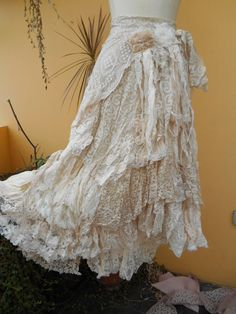RESERVED vintage inspired extra shabby wrap by wildskin on Etsy, $125.00