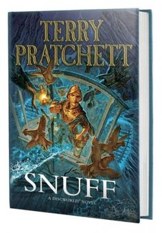 The Discworld novel by Terry Pratchett, Snuff, sees Sam Vimes investigating a countryhouse murder. It is the book in the City Watch series. Cool Books, I Love Books, Books To Read, My Books, Discworld Books, Terry Pratchett Discworld, Thriller Books, Fantasy Books, Fantasy Art