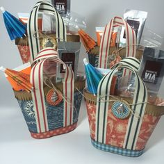 How to Make Mini Beach Tote Treat Holders