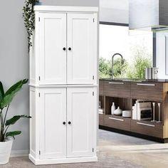 Wood Kitchen Pantry, Kitchen Rack, Kitchen Tops, Kitchen Cupboards, Wood Cabinets, Kitchen Storage, Tall Pantry Cabinet, Kitchen Ideas, Pantry Ideas