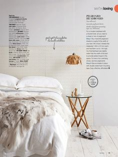Pegboard Headboard - think of all of the things that you could do with this from leaving it plain to jazzing it up for a child's room.
