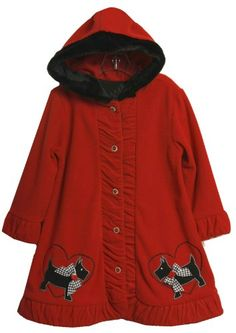 Bonnie Jean Girls 2-6X Scotty Applique Fleece Hooded Coat  Red  5From #Bonnie Jean List Price: $44.00Price: $26.40