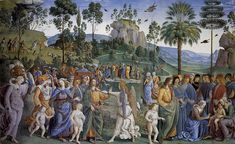 Moses's Journey into Egypt and the Circumcision of His Son Eliezer by Pietro Perugino.