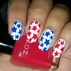 4th of July stars #notd #4thofjuly #nailsoftheday