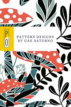 Gae Saturno of @studio_saturno is an Italian crafter who designed the beautiful patterns and illustrations featured in today's blog post. Take a moment to explore his bold, eye-catching style!