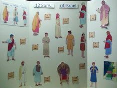 Bible Fun For Kids: The 12 Sons of Jacob vs. The 12 Tribes of Israel by corinne Quick View Bible, Sons Of Jacob, Bible Topics, Bible Mapping, Bible Crafts For Kids, Religion Catolica, Kids Church, Church Ideas, Bible Lessons
