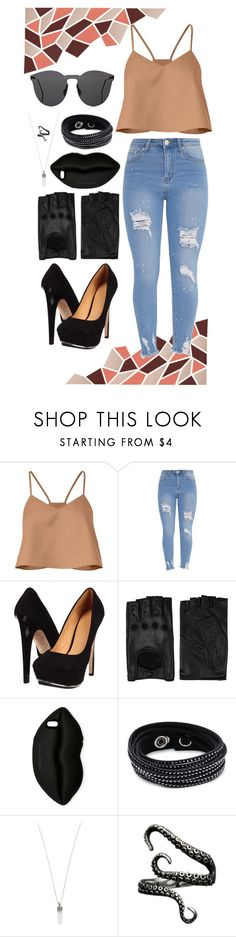 """""""leave me lonely"""" by dngrsw ❤ liked on Polyvore featuring TIBI, L.A.M.B., AGNELLE, STELLA McCARTNEY, Swarovski, Marc Jacobs and Illesteva"""