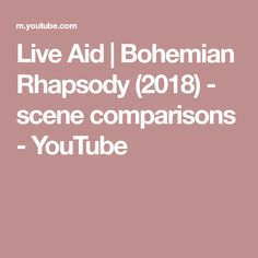 Comparisons between the Live Aid scene from the movie Bohemian Rhapsody and the blu-ray extra with the Live Aid performance from 1985 by The Queen. Hammer To Fall, Live Aid, Scene, Bohemian, Youtube, Boho, Youtubers, Youtube Movies, Stage