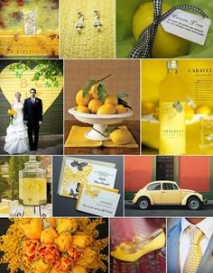 Lemon Yellow, Green Apple, and Citrus Orange Lemonade wedding - Lucky in Love Wedding Planning Blog