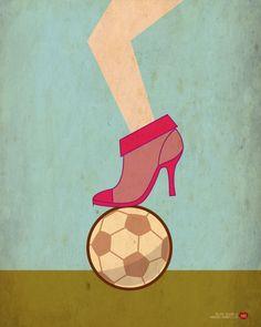 illustration for donnamoderna magazine. #shoes #football #pink #sport #girl #lady #illustration