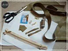 DIY : Petit sac en cuir | Linette & Staël Diy And Crafts, Small Leather Bag, Purse, Tuto Sac