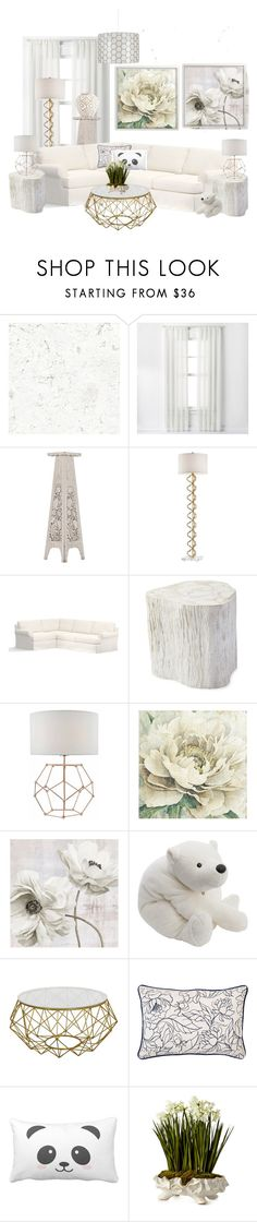 """Flowers and Bears"" by babygirltrice ❤ liked on Polyvore featuring Curtainworks, Pottery Barn, Serena & Lily, Christian Dior and John-Richard"