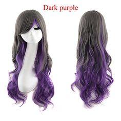 Heat Resistant Women Long Wavy Harajuku Style Cosplay Wig…