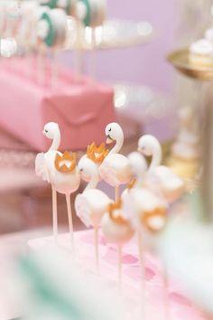 Swan Cake Pops from a Dreamy Swan Birthday Party on Kara's Party Ideas   KarasPartyIdeas.com (6)