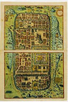 Jerusalem by Ilan Sztulman Frans Hogenberg, Flemish, 1535-1590, after Christian Van Adrichom, Dutch, 1533-1585.  Imaginary Plan of Ancient Jerusalem and its suburbs at the time of Jesus.