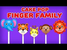 """Watch and Enjoy """"Wild Animals Cake Pop, Ice Cream, Easter Eggs and More Cake Pop Finger Family Songs Collection"""" for Children Lyrics: Daddy finger, daddy fin. Baby Finger Song, Sister Finger, Mommy Finger, Finger Family Song, Family Songs, Kids Songs, Animal Cake Pops, Kids Nursery Rhymes, Songs 2017"""