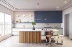 Home Decor Kitchen .Home Decor Kitchen Cocina Art Deco, Art Deco Kitchen, Deco Design, Küchen Design, House Design, Interiores Art Deco, Interiores Design, Unique Home Decor, Cheap Home Decor