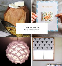 7 DIY Projects to try. These all look pretty awesome!