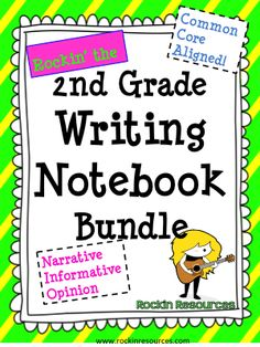 I have been working and working and working on this second grade bundle. OVER 400 PAGES! I had a few customers who teach 2nd grade who kept looking at my other grade writing bundles and asked if I would do a 2nd grade one. Whew! I can now breathe and I am so happy to have it uploaded and ready for BACK TO SCHOOL! I will give a description but first I want to let you know that it is 50% off until Friday- Aug.15th and 10 pm! No lie! My other grades have been best sellers on TPT. Now…