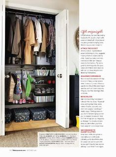 Get Organized!!  Going to do something very similar to my front hall closet