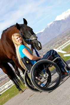 A very inspiring story click on the picture and it will take you to the story. Barrel Racer Amberley Snyder..