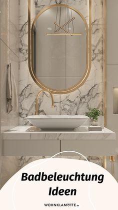 Mit den richtigen Badbeleuchtungs-Ideen lässt sich der Wohlfühlfaktor gleich verdoppeln. Dabei ist es wichtig, dass Du die perfekte Kombi aus praktischen Badleuchten für die alltäglichen Schönheitsprozeduren und stimmungsvollen Lichtquellen zum Entspannen findest. Wir zeigen Dir, was zu beachten ist. Mini Bad, Mirror, Furniture, Home Decor, Mirror With Lights, Shower Cabin, Ad Home, Decoration Home, Room Decor