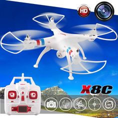 89.90$  Buy now - http://aliccd.shopchina.info/go.php?t=32789596335 - Brand Professional SYMA X8C 2.4G 4CH 6 Axis with 2MP HD Camera Wide Angle RC Drone RTF RC Helicopter kvadrokopter  #shopstyle