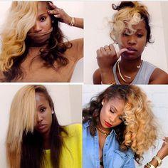 Loooooove her hair color and style Love Hair, Big Hair, Gorgeous Hair, Curly Hair Styles, Natural Hair Styles, Color On Natural Hair, Blonde Natural Hair, Pelo Natural, Hair Laid