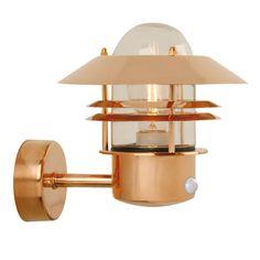 ACHICA   Outdoor Glow Blokhus Outdoor Sensor Wall Light, Copper