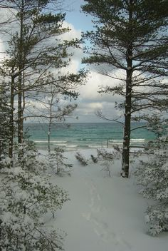 Lake Michigan at Northport, Michigan