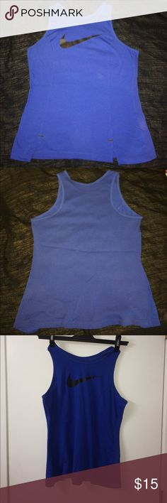 Nike Dri Fit Tank Nike Dri Fit Tank in new condition. Deep blue in color with mesh back. Nike Tops Tank Tops