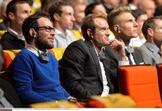 Mark Cavendish, Alexander Kristoff and Marcel Kittel at the 2015 #TDF presentation.