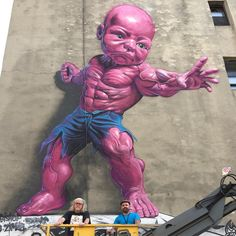 """Ron English """"Temper Tot"""", a new piece in Manhattan, New York City"""