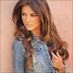 Pretty hair, nice jean  jacket too... #hair #beauty Visit www.makeupbymisscee.com for hair and beauty inspiration