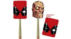 Check out this amusing Deadpool-themed spatula. You know you've made it  when you get your own spatula! It comes from Entertainment Earth and this  is the product description:      Lose your appetite while you cook! This Deadpool Spatula With Sleeve     features Deadpool's iconic face, and he doesn't look happy. But just     remove the sleeve and Deadpool looks much better all burned and     physically deformed. It's just the thing to whet your appetite.   You know what would make this even…
