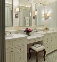 double sink vanity with makeup area.double vessel sink vanity with makeup area.bathroom vanity double sink with makeup area.double sink bath vanity with makeup area. Double Sink Bathroom, Bathroom Sink Vanity, Bath Vanities, Double Sinks, Double Vanity, Bathroom Cabinets, Restroom Cabinets, Vanity Room, Vanity Decor
