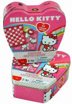 Hello Kitty Checkers Board Games Sanrio Hello Kitty Games, Sanrio Hello Kitty, Checkers Board Game, Board Games, Tic Tac Toe, Maid, Lunch Box, Amazon, Toys