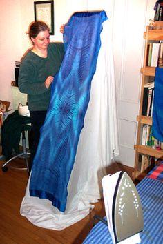 Lise setting up photo-shoot