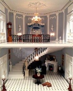 20 Dollhouses That'll Make You Wish You Could Fit Inside - Viktorianische Puppenhäuser!<br> If you used to be obsessed - you know you once tried to make a DIY dollhouse - check out these 20 dollhouses that'll make you wish you could fit inside. Miniature Rooms, Miniature Houses, Miniature Furniture, Miniature Dollhouse, Doll House Miniatures, Miniature Crafts, Mini Doll House, Barbie Doll House, Dollhouse Kits