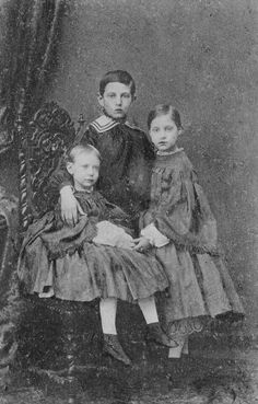 Grand Duke Nicholas of Russia, with his sister Grand Duchess Olga, later Queen of the Hellenes.