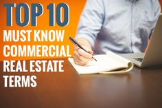 Top 10 Must-Know Commercial Real Estate Terms For First Time Business Owners and Entrepreneurs.  A Beginners Guide To Commercial Real Estate.