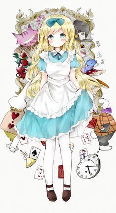 Image result for alicia en el pais de las maravillas anime