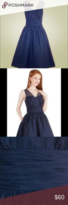 Modcloth Professionally Posh Dress in Navy Adorable retro style fit-n-flair dress with layers of tulle in the skirt. ModCloth Dresses Midi