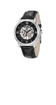 STUHRLING ORIGINAL 458G2.33151SET(ブラック)  ブラックの文字盤とベルトが渋い時計。