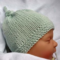 Baby Hat with Top Knot - Free Pattern | Beautiful Skills - Crochet Knitting Quilting | Bloglovin'