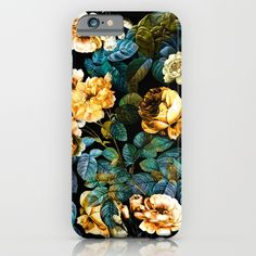 Check out society6curated.com for more! @society6 #floral #flowers #pattern #phone #case #phonecase #accessory #accessories #fashion #style #buy #shop #sale #cool #sweet #rad #awesome #fun #beautiful #beauty #pretty #botanical #iphone #products #product  #botanical #orange #green #black #night